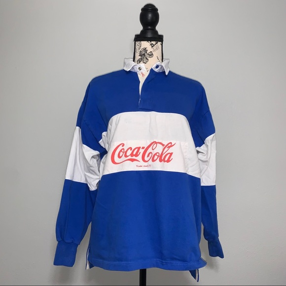 Vintage 80's Coco-Cola Long Sleeve Polo Shirt